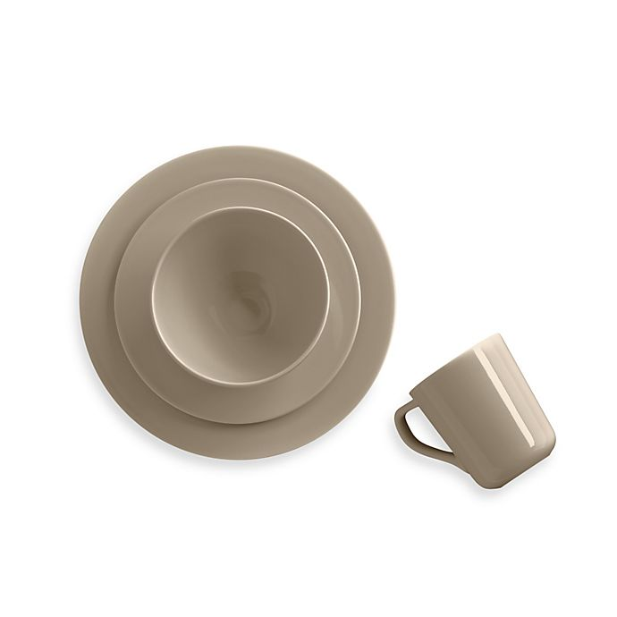 Alternate image 1 for Real Simple® 4-Piece Place Setting in Taupe