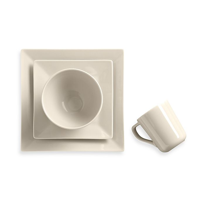 Alternate image 1 for Real Simple® Square Dinnerware Collection in Ivory