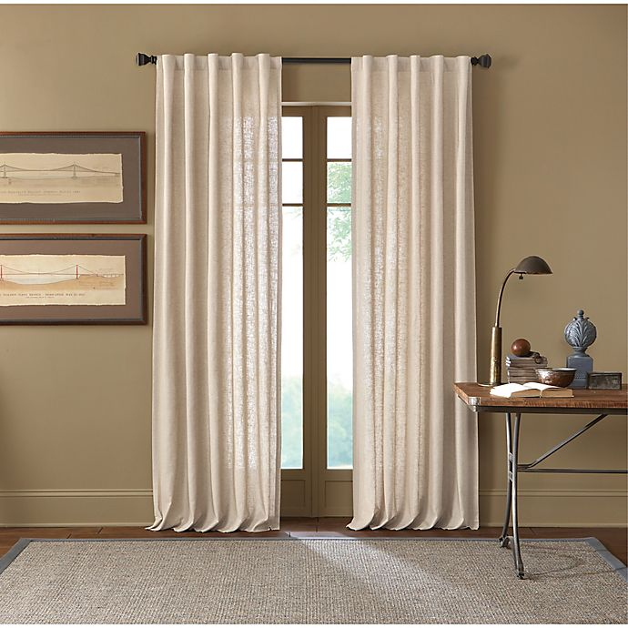 Alternate image 1 for Cambria® Malta 120-Inch Rod Pocket/Back Tab Window Curtain Panel in Parchment