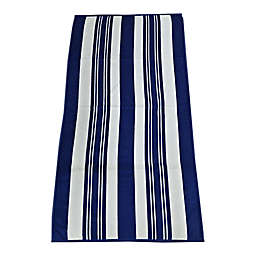 Destination Summer Dobby Azzure Stripes Cool Beach Towel in Blue/White