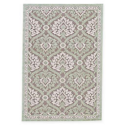 Feizy Soho-Mah Medallion Area Rug in Grey/Light Blue