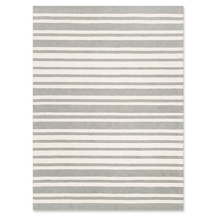 Alternate image 1 for Safavieh Kids® Wide Stripe Hand Tufted Rug in Grey