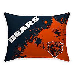 NFL Chicago Bears Splatter Indoor/Outdoor Oblong Throw Pillow