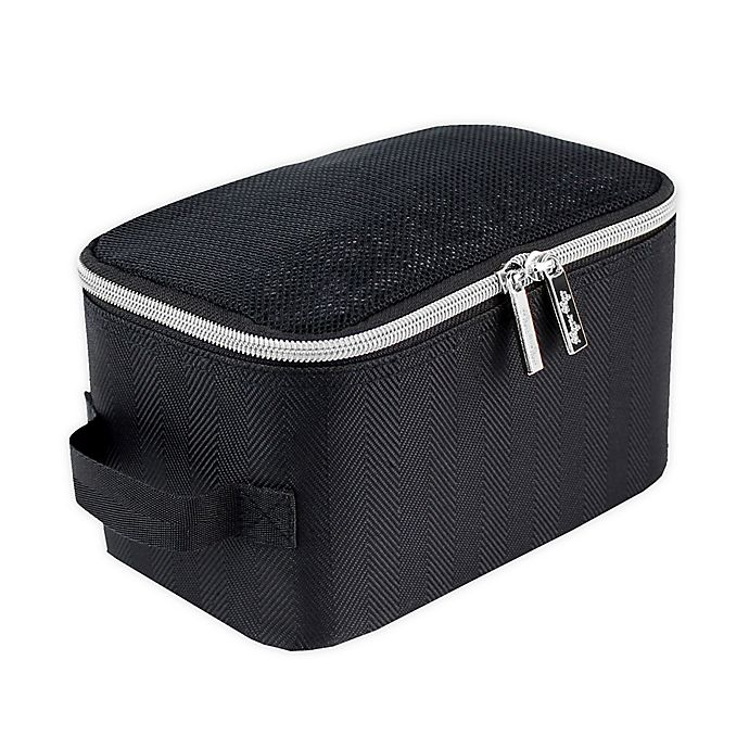 Alternate image 1 for Itzy Ritzy® Packing Cubes in Black/Silver (Set of 3)