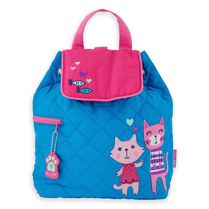 Alternate image 1 for Stephen Joseph Quilted Cats Backpack