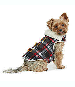 Bee & Willow™ Home Abrigo chico a cuadros para perro en negro/rojo
