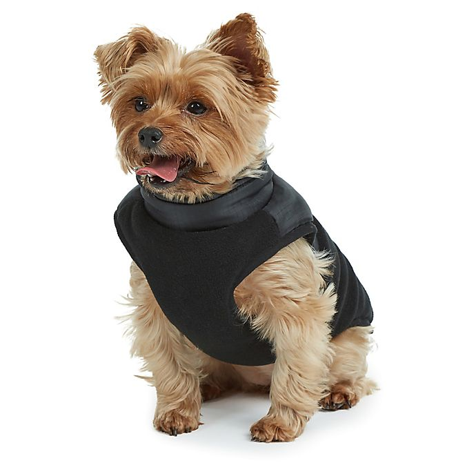 Alternate image 1 for Bee & Willow™ Home Fleece Apparel Dog Vest in Black