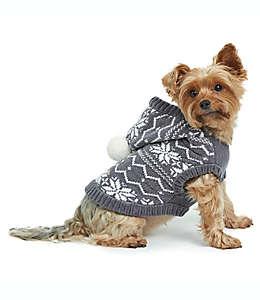 Chaleco con capucha para perro, talla chica Fair Isle Bee & Willow™ Home en gris