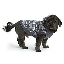 Bee & Willow™ Home Chenille Fair Isle Hoodie Extra Large Dog Vest in Grey