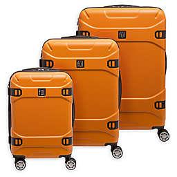 ful® Molded Detail 3-Piece Hardside Spinner Luggage Set