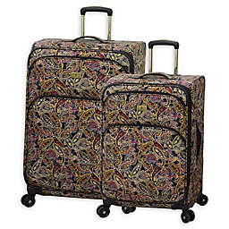 London Fog Cranford Softside Spinner Checked Luggage