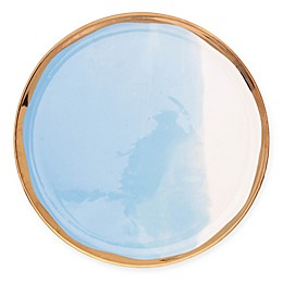 canvas home™ Dauville Gold Dinner Plates in Blue (Set of 4)