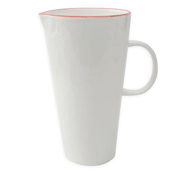 Alternate image 1 for canvas home™ Abbesses Pitcher in Red