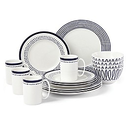 kate spade new york Charlotte Street East™ 16-Piece Dinnerware Set in Indigo