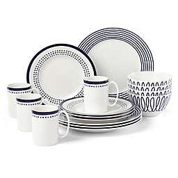 kate spade new york Charlotte Street East™ 16-Piece Dinnerware Set in Indigo