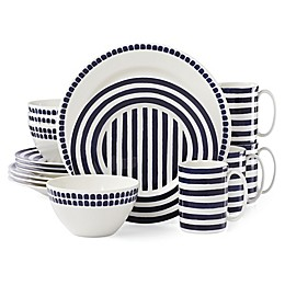 kate spade new york Charlotte Street North™ 16-Piece Dinnerware Set in Indigo