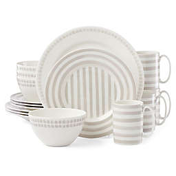 kate spade new york Charlotte Street North™ 16-Piece Dinnerware Set in Grey