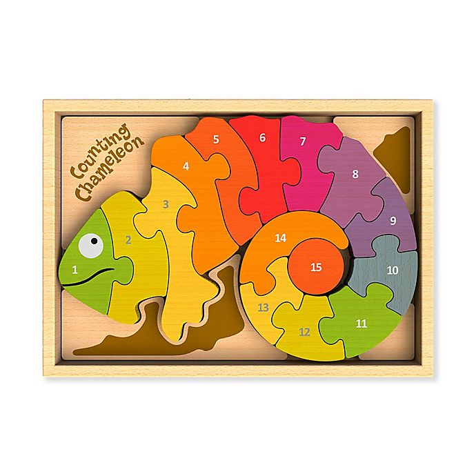 Alternate image 1 for BeginAgain 15-Piece Counting Chameleon A to Z Puzzle
