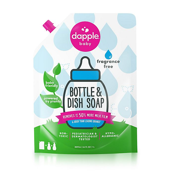 Alternate image 1 for Dapple® 34 oz. Fragrance Free Bottle & Dish Soap Refill