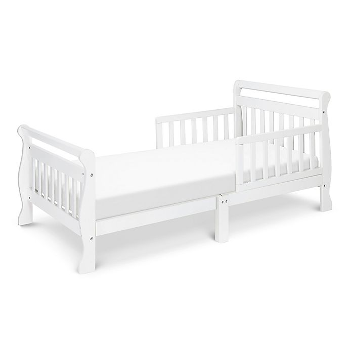Alternate image 1 for DaVinci Sleigh Toddler Bed in White