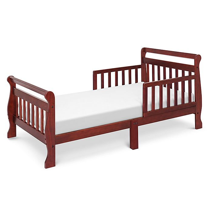 Alternate image 1 for DaVinci Sleigh Toddler Bed in Cherry