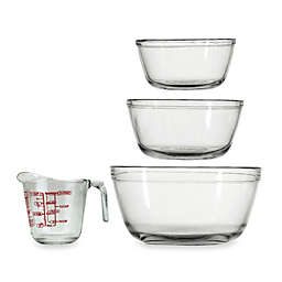 Anchor Hocking 4-Piece Mixing Bowl and Measuring Cup Set