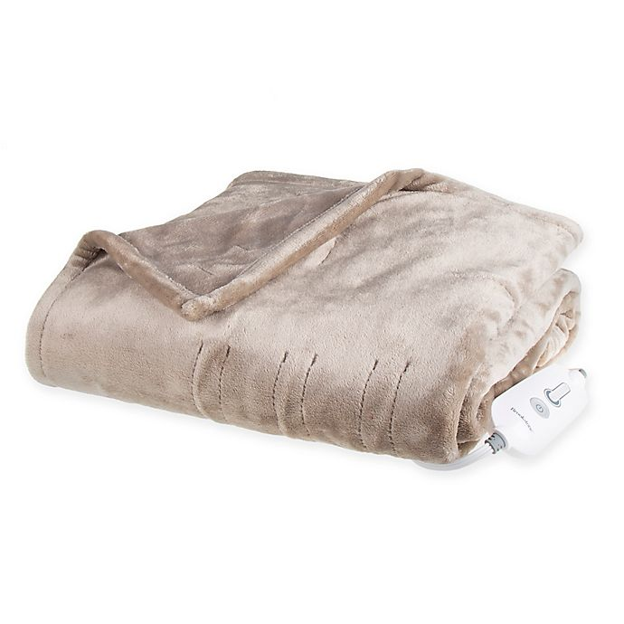 Alternate image 1 for Brookstone® n-a-p® Heated Plush Throw