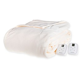 Brookstone® Heated Micro-Fleece Blanket