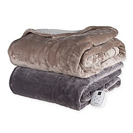 Brookstone® n-a-p® Heated Sherpa Blanket