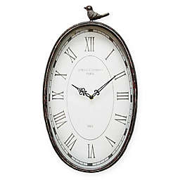 Stratton Home Decor Antique Wall Clock in Teal