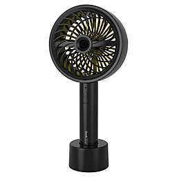 Geek Aire GF3M 4.6-Inch 3-Speed Portable Rechargeable Personal Turbo Misting Fan in Black
