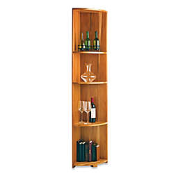 Wine Enthusiast N'FINITY Quarter Round Shelf Wine Rack Kit in Natural