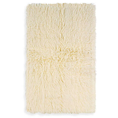 Flokati Area Rug in Natural