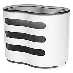 Casabella® Linear Double Sponge and Brush Holder in White/Grey