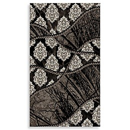 Linon Home Forest Rug in Black