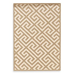 Linon Home Greek Key Rug in Beige/White