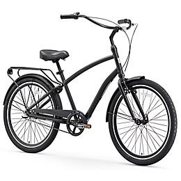 sixthreezero EVRYjourney Men's 26-Inch 3-Speed Hybrid Bike in Matte Black