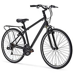 sixthreezero Pave n' Trail Men's 26-Inch 21-Speed Hybrid Bicycle in Matte Black