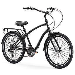 sixthreezero EVRYjourney Men's 26-Inch 21-Speed Hybrid Bike in Matte Black