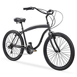 sixthreezero In the Barrel Men's 26-Inch 21-Speed Cruiser Bike in Matte Black