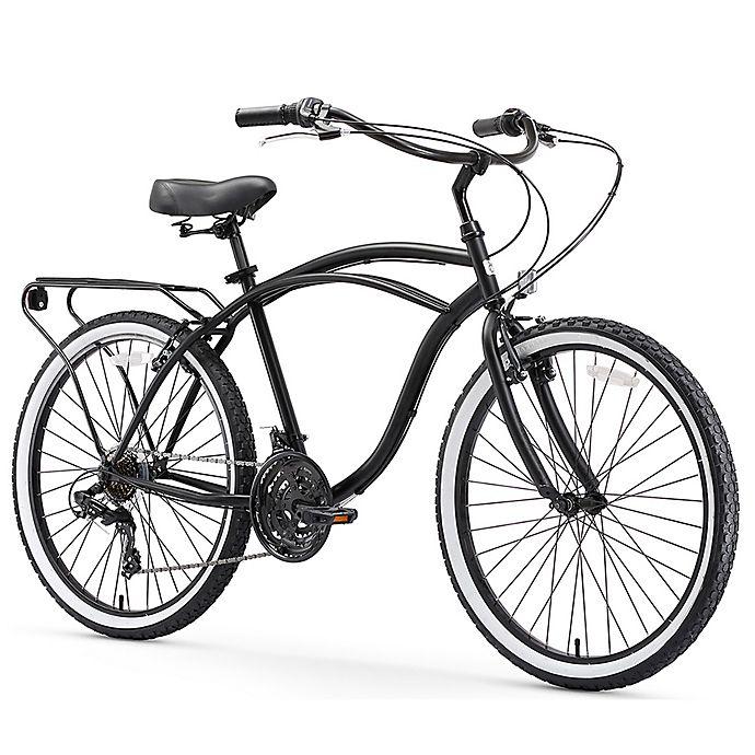 Alternate image 1 for sixthreezero Around the Black Men's 26-Inch 21-Speed Cruiser Bike in MatteBlack