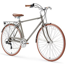 sixthreezero Ride in the Park Men's 26-Inch 7-Speed City Bicycle in Grey