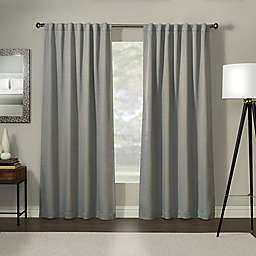 Madeira 84-Inch 100% Blackout Rod Pocket Window Curtain Panel in Steel  (Single)