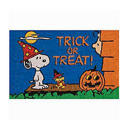 Peanuts™ 18-Inch x 28-Inch Trick or Treat Halloween Coir Door Mat