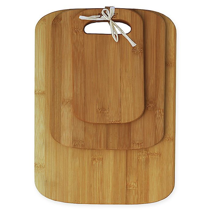 Alternate image 1 for Oceanstar 3-Piece Bamboo Cutting Board Set