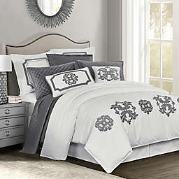 HiEnd Accents Madison King Duvet Cover in Grey