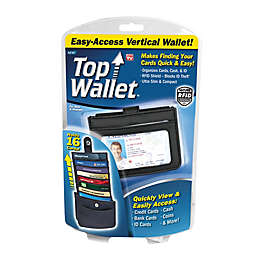 Top Wallet™ Easy Access Vertical Wallet in Black