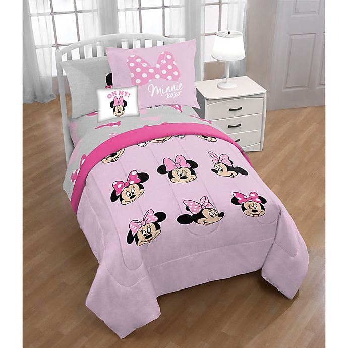 Alternate image 1 for Disney® Minnie Mouse 3-Piece Twin/Full Comforter Set