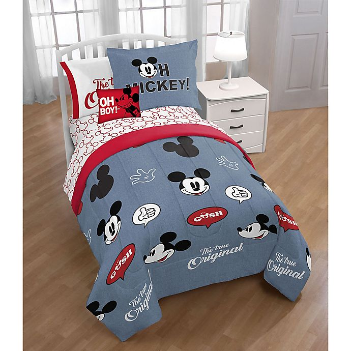 Alternate image 1 for Disney® Mickey Mouse 3-Piece Twin/Full Comforter