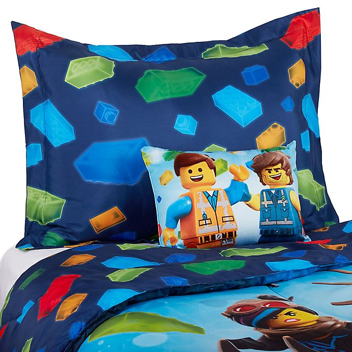 Alternate image 1 for Lego Movie 2™ Twin/Full Comforter Set in Blue
